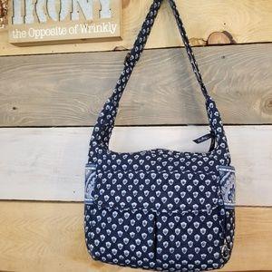 Vera Bradley Blue Soft Multi Pocket Shoulder Bag